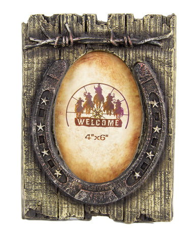 Brigalow Rustic Horse Shoe Photo Frame
