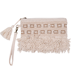 Alysa - embellished clutch with zip and detachable strap