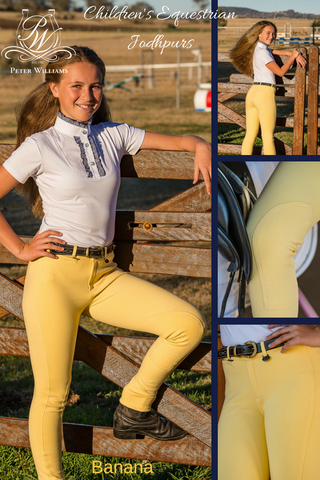 Peter Williams Equestrian Jodhpurs - Banana