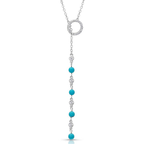 Montana Silver Lariat Turquoise Drop Necklace