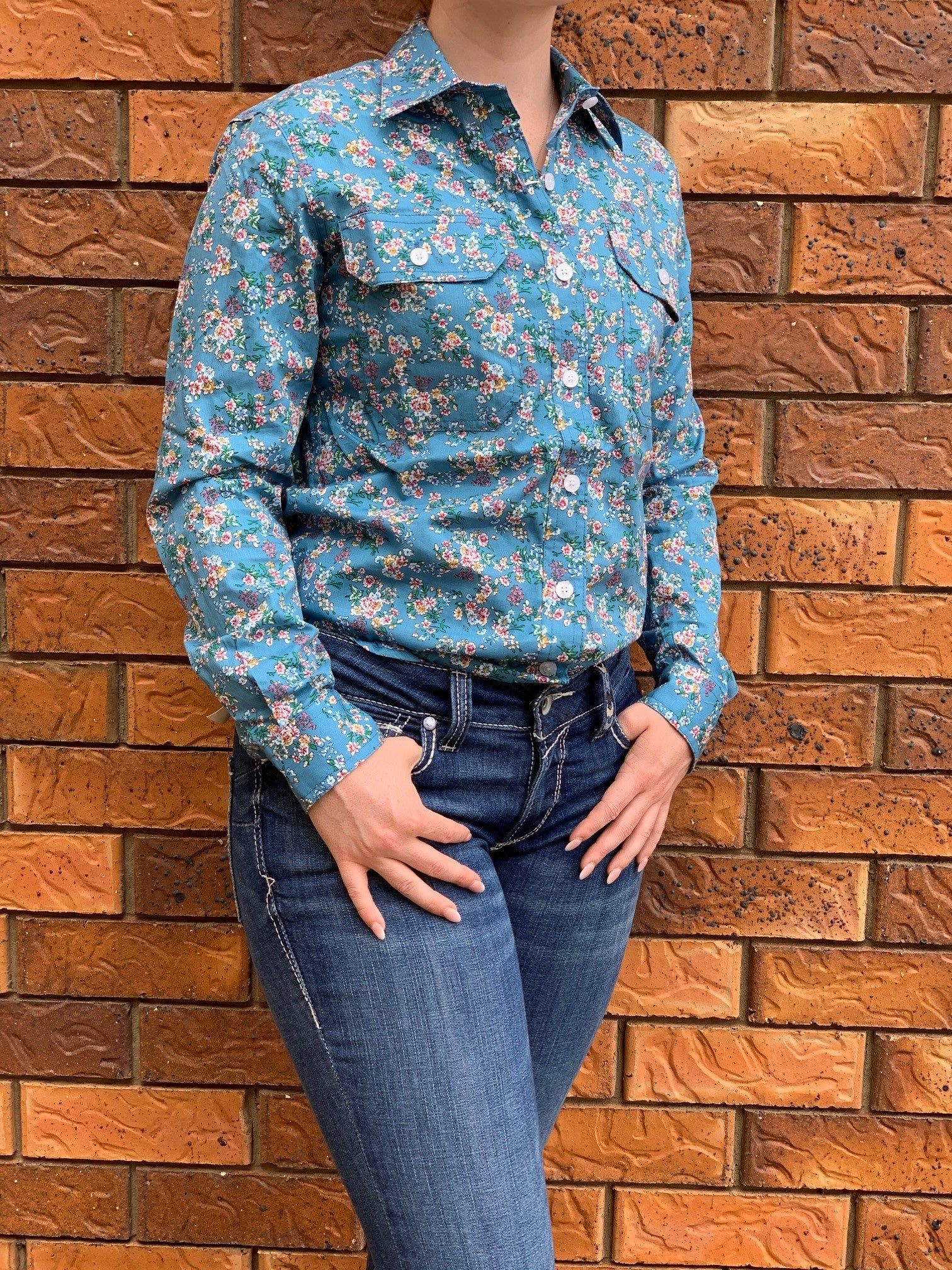Just Country Abbey Full Button  Print Workshirt