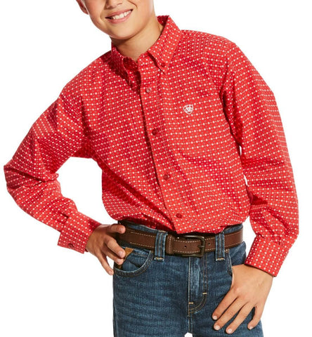 Ariat Boys Carmine LS Print Shirt