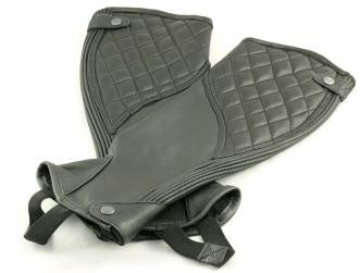 Showcraft Quilted Leather Gaiters - Black