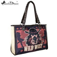 Montana West Wild West Print Canvas Tote