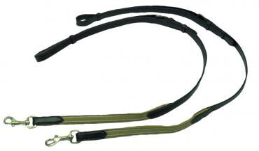 Leather Side Rein With Elastic