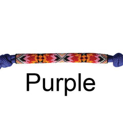 Professionals Choice Rope Halter and Lead - Beaded Noseband - Purple