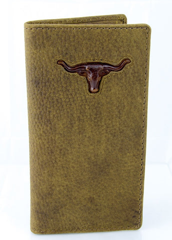 Men's Long Leather Wallet - Steer head Brand