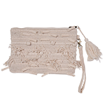 Lilah - embellished clutch with zip and detachable strap
