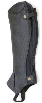 Showcraft Grained Leather Gaiters Black