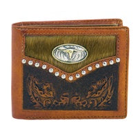 Wallet Bifold - Leather and Cow Hide