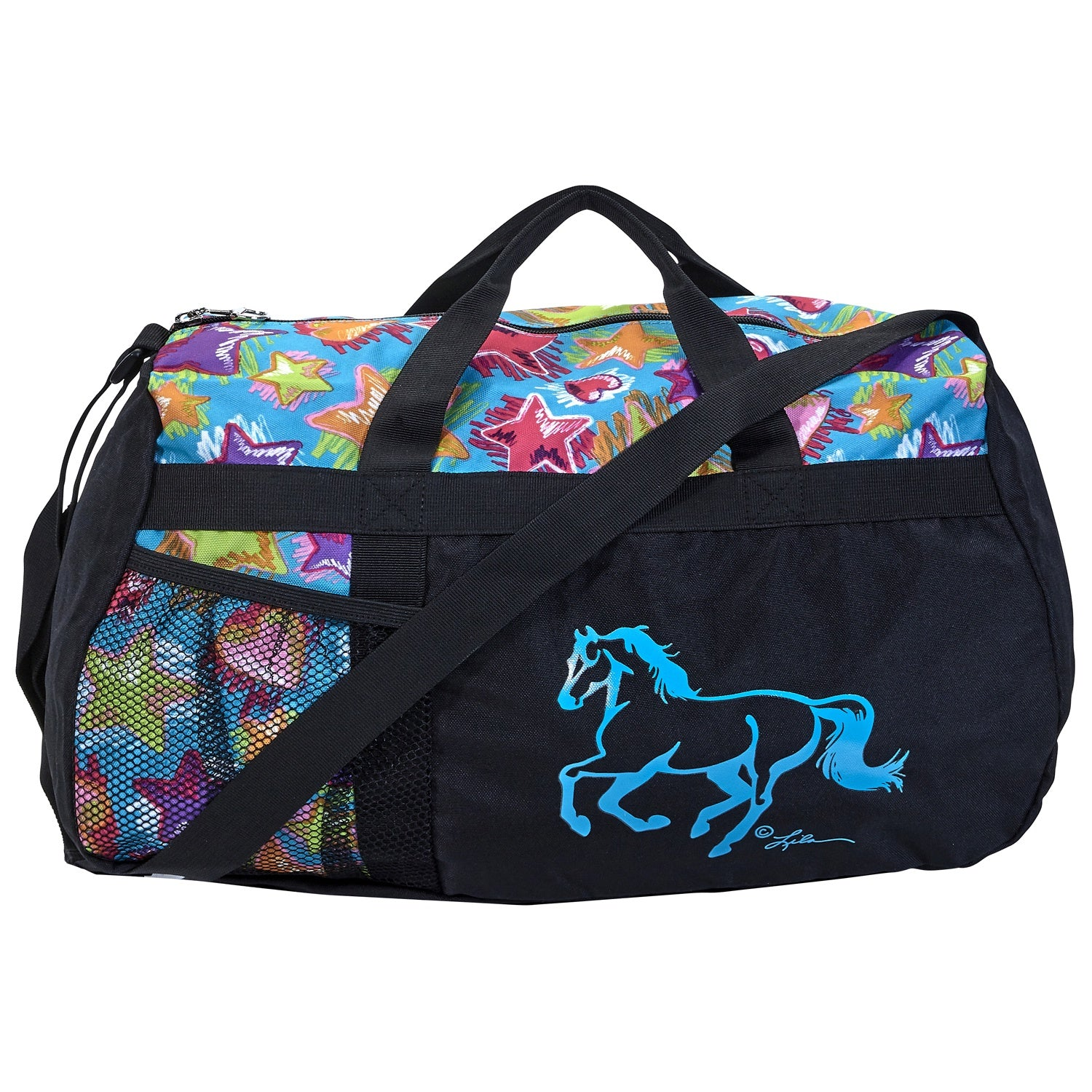 "Girls Overnight Bag - ""Stars and Hearts"""