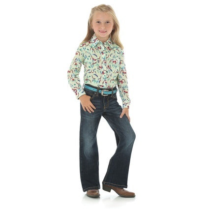 Wrangler Girls Rock 47 SteerHead Shirt