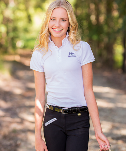 H&H Equestrian Polo Shirt - White