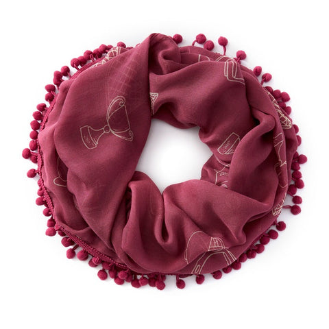 Ariat Saddle Up Infinity Rose Scarf