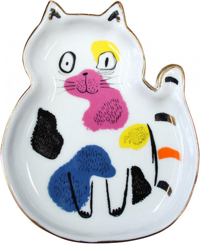 Ceramic Trinket Plate - Splotchy Cat