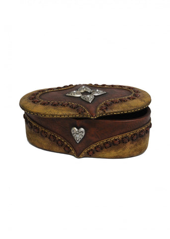 Oval Hearts Jewellery Box Large