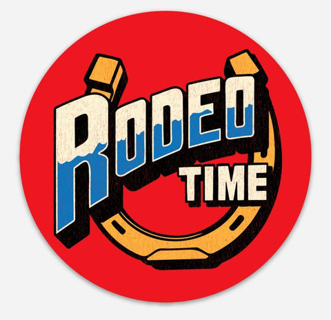 Rodeo Time Horseshoe Decal