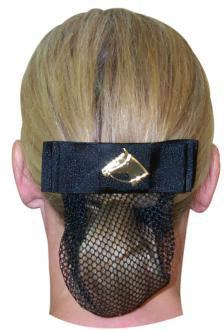 Horse Head Show Bow With Hair Net - Black