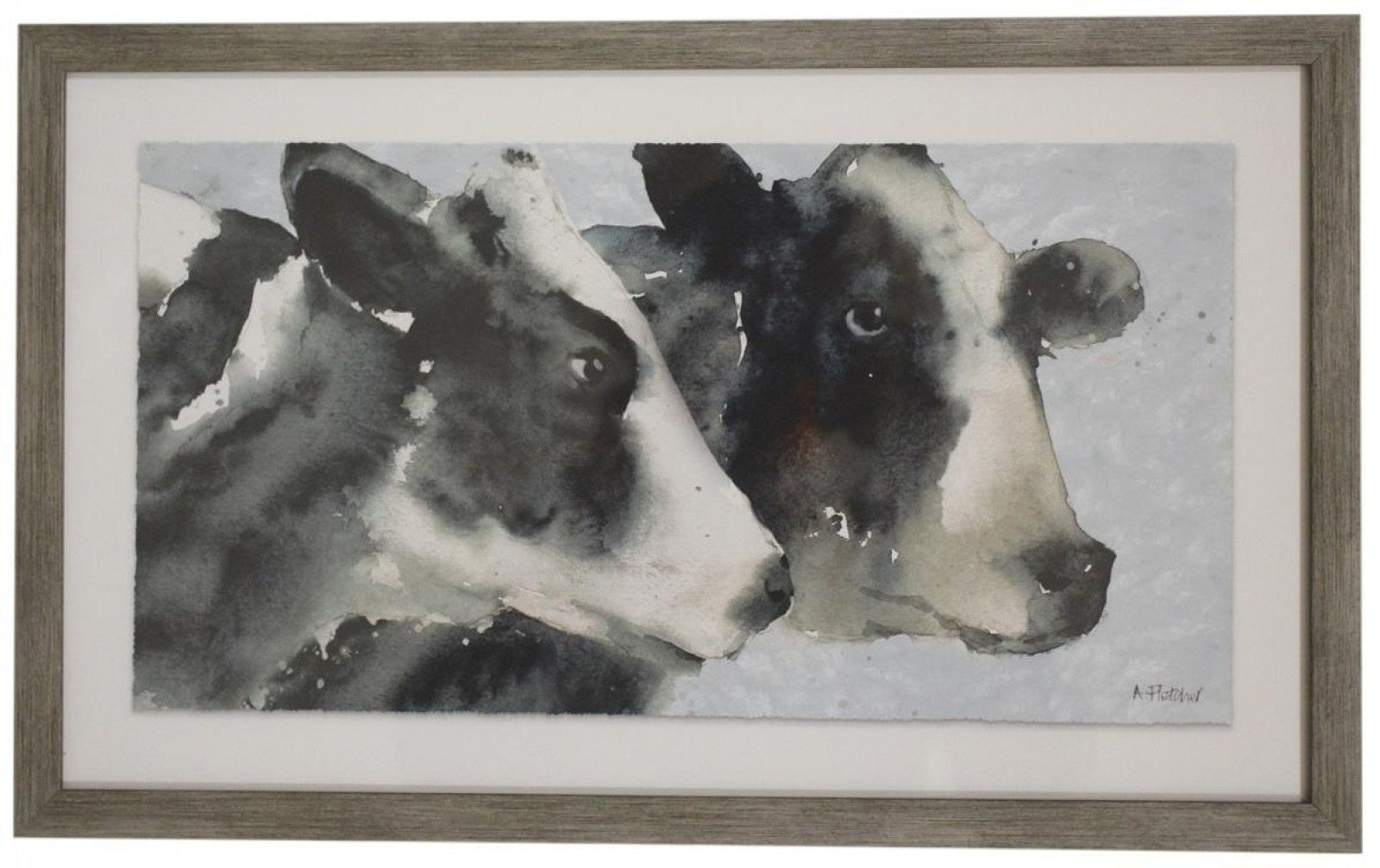 Framed Print - Pair of Cows