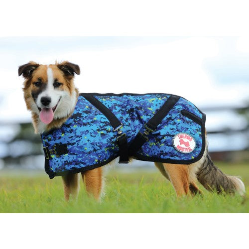 ThermoMaster Supreme Dog Coat Blue Pixel