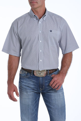 Cinch Men's SS Geometric Print Shirt