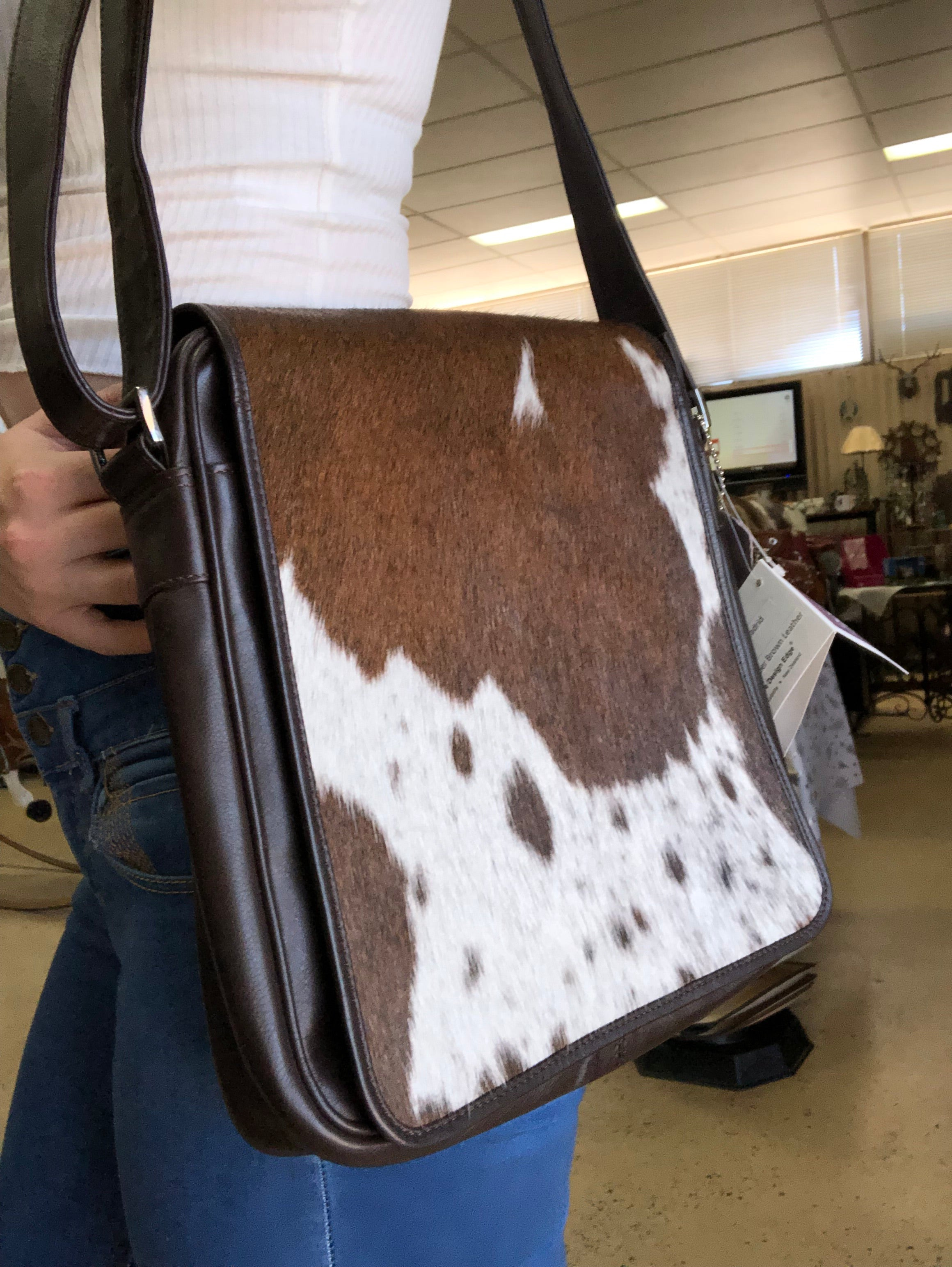 Cowhide Flap Handbag Madrid