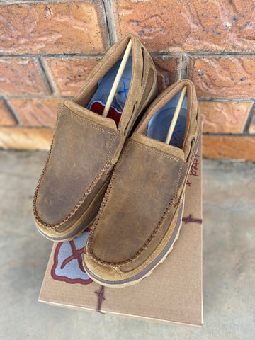 Twisted X Mens Classic Tan Cellstretch Slip On