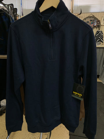Hard Slog Mens 1/4 Zip Fleece Jumper - Dark Navy