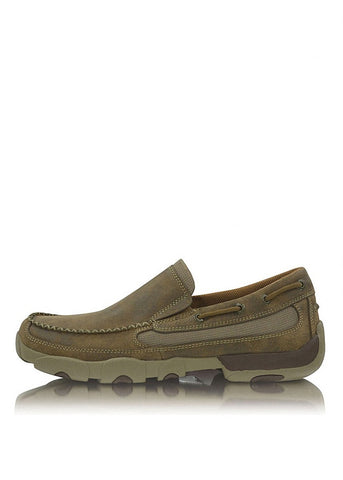 Twisted X Mens Cowboy Classic Tan Slip On Moc