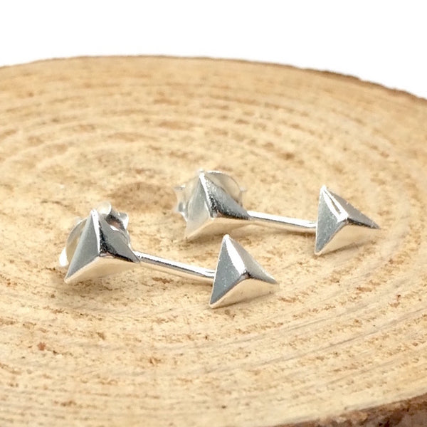 Triangle Ear Jackets in Sterling Silver