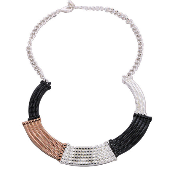 Alina Necklace Tri-tone - Little Bisous