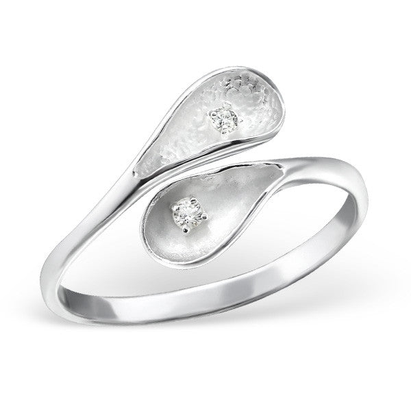 Calla Lily Ring in Sterling Silver