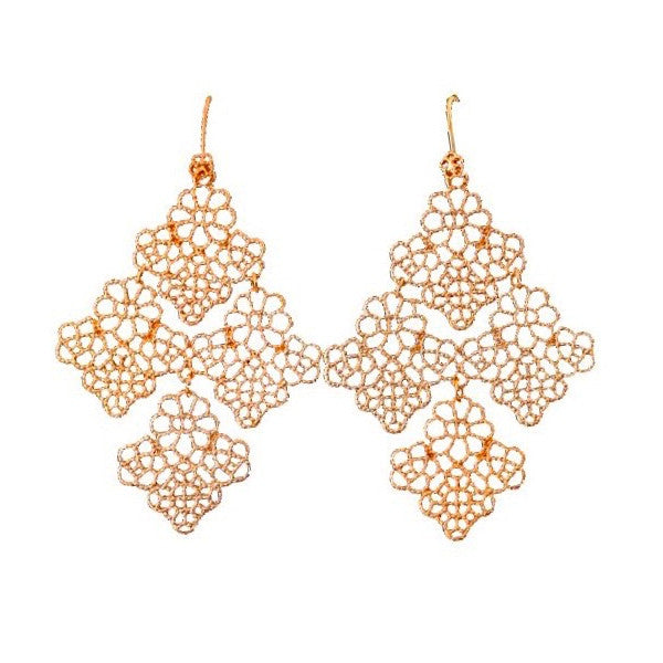 Claudia Earrings Gold - Little Bisous