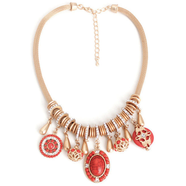 Constance Necklace Red - Little Bisous