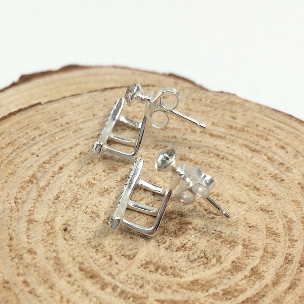 Crystal Arc Ear Jackets in Sterling Silver - Little Bisous