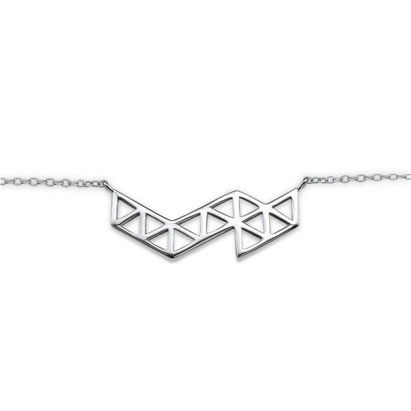 Geometric Pendant Bracelet in Sterling Silver - Little Bisous