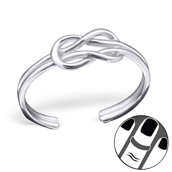 Infinity Knot Midi Ring in Sterling Silver