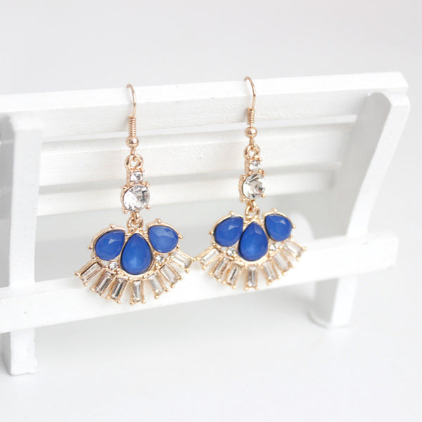 Isabelle Earrings Blue - Little Bisous