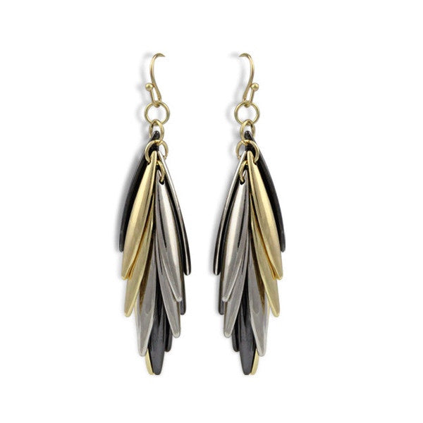 Karlie Earrings Tri-tone - Little Bisous