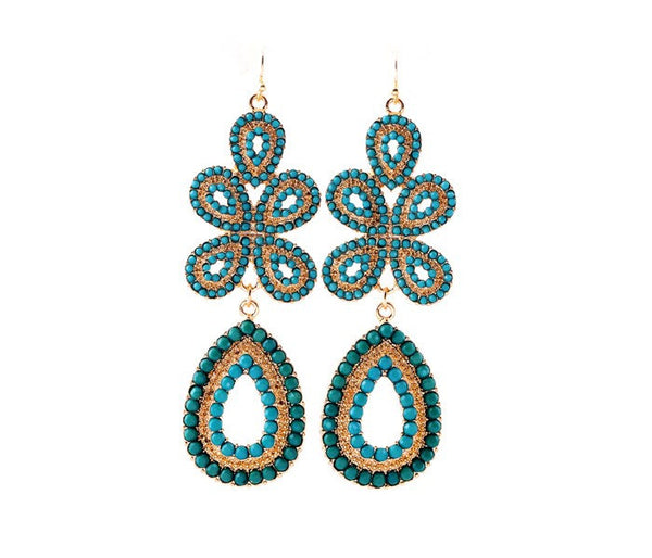 Laetitia Earrings Green - Little Bisous