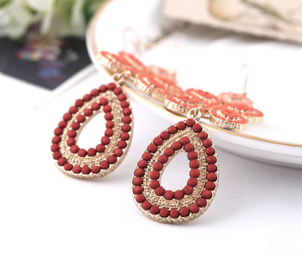 Laetitia Earrings Red - Little Bisous