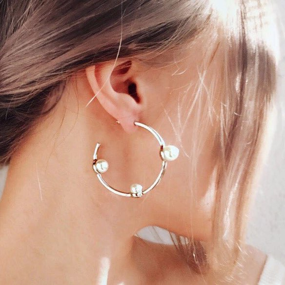 Paige Pearl Hoop Earrings