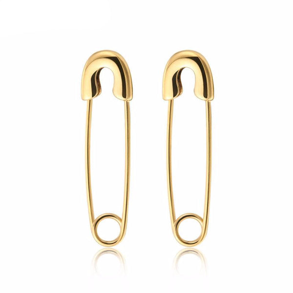 Safety Pin Stainless Steel Earrings