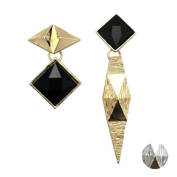 Tara Asymmetric Geometric Earrings