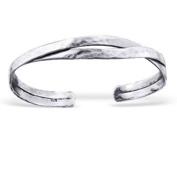 Twist Cuff in Sterling Silver