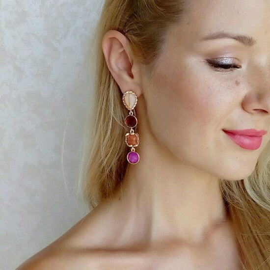 Vicky Gem Drop Earrings