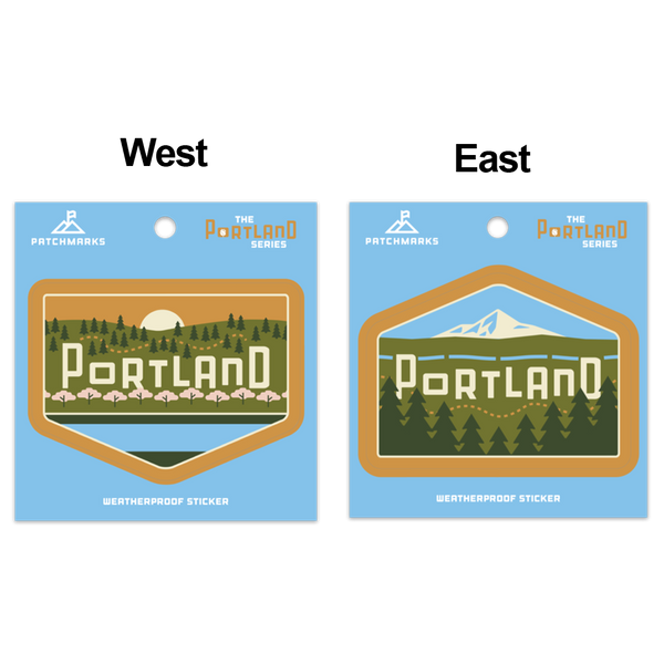 "Portland Skyline ""West"" Weatherproof Vinyl Sticker"