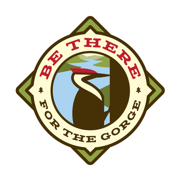 "Be There For The Gorge - 3.5"" Weatherproof Vinyl Fundraiser Sticker"