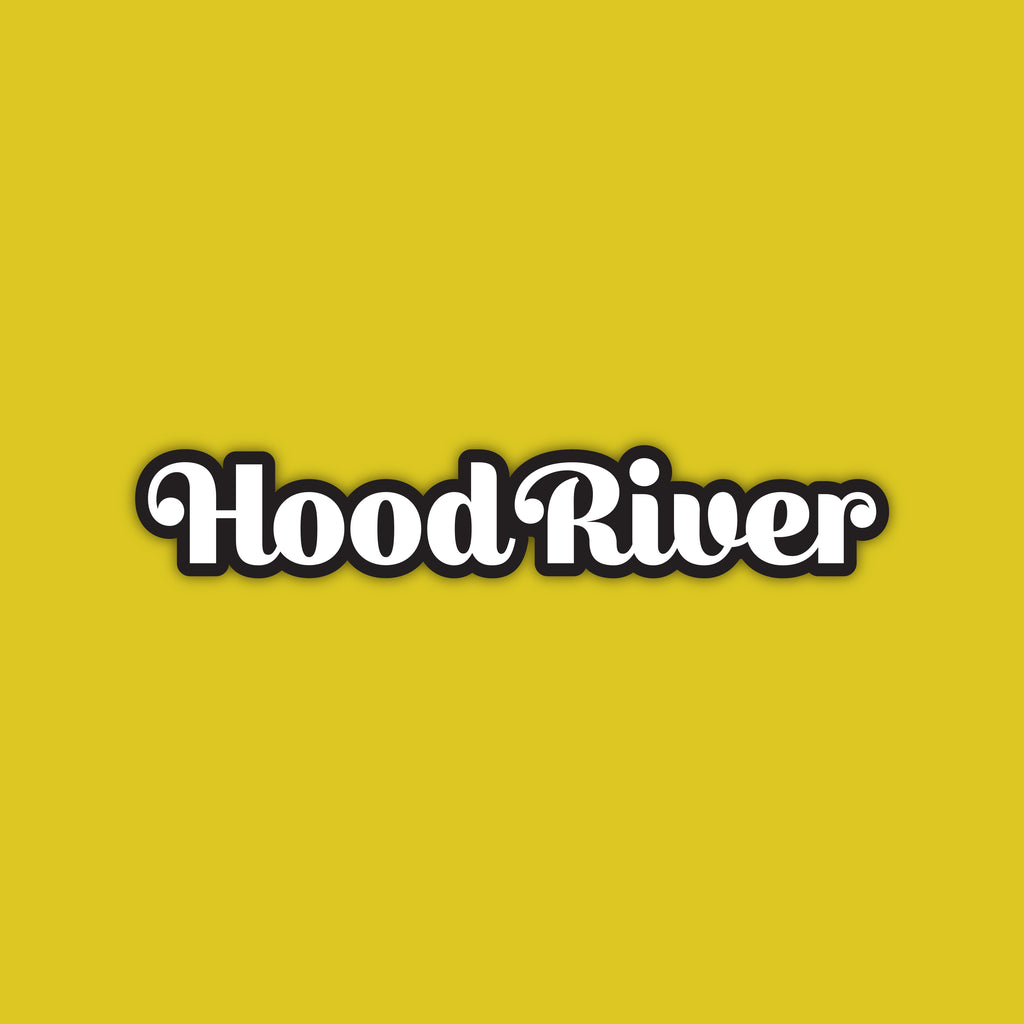 Hood River, Oregon Long Vinyl Sticker