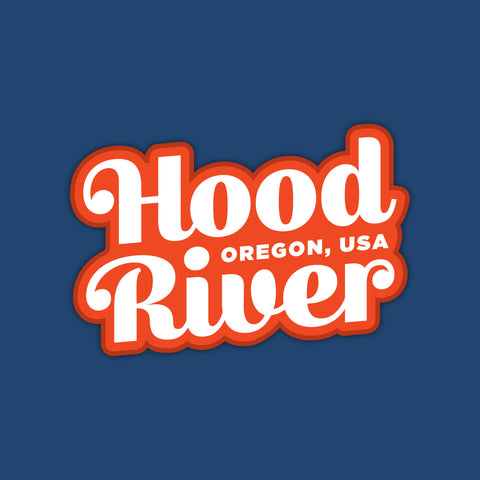 Hood River, Oregon Large Vinyl Sticker